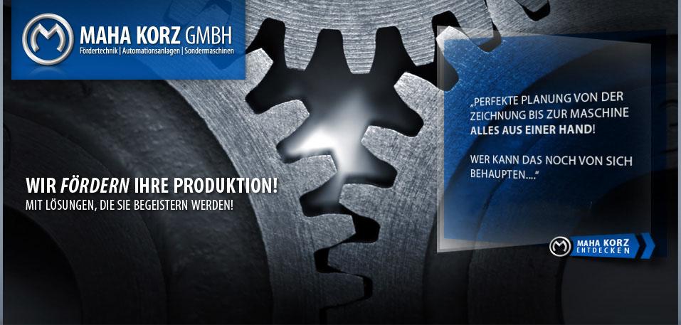 Maha Korz GmbH - Fördertechnik, Automationsanlagen, Sondermaschinen