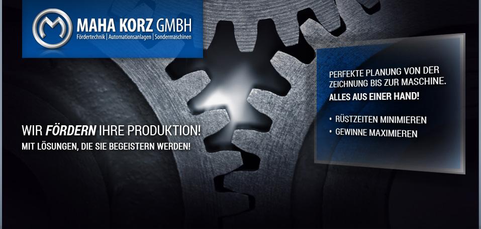 Maha Korz GmbH - Automationsanlagen, Fördertechnik und individuelle Sondermaschinen für den Automobilbau.